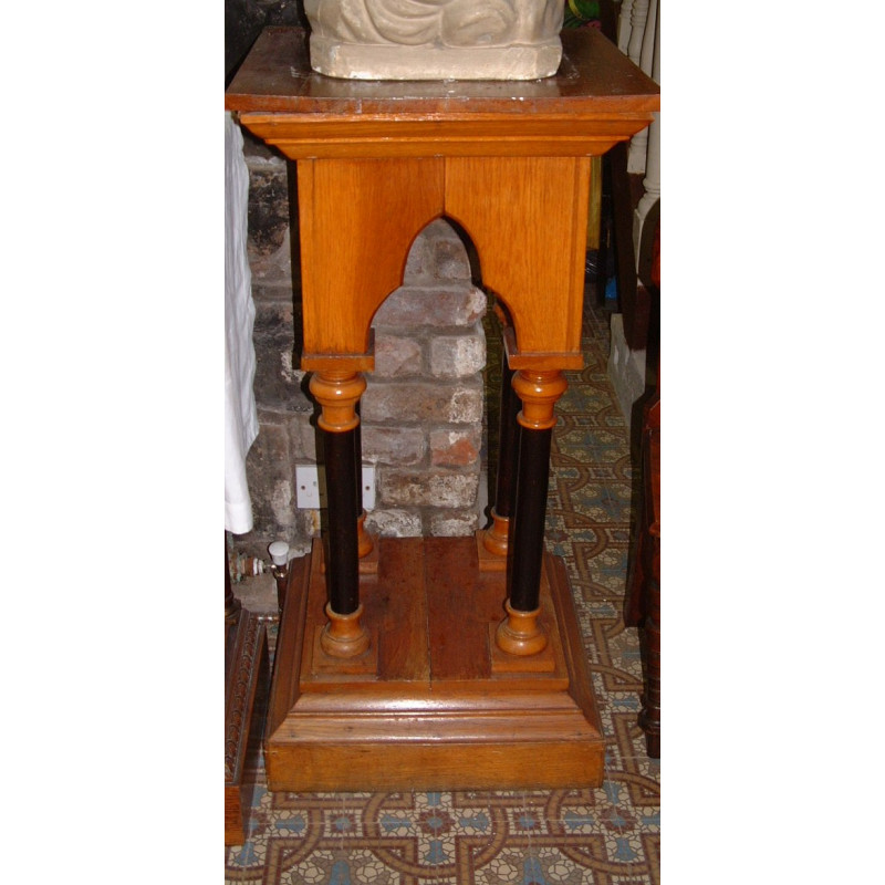 Wooden Gothic Statue Stand