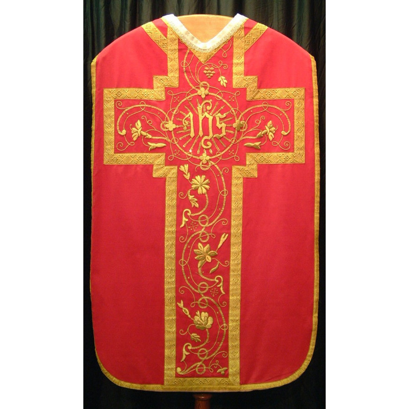 Red and Gold bullion Vestment