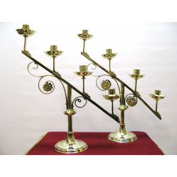 Pair of adoration candlesticks