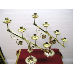 Pair of adoration candlesticks