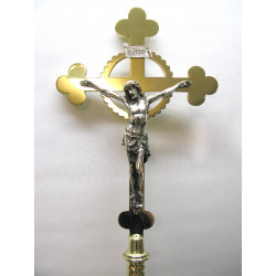 Altar crucifix with silver corpus