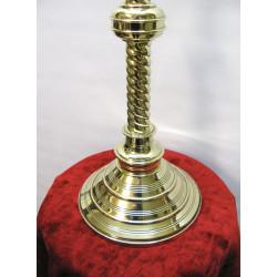 Altar crucifix brass turned base