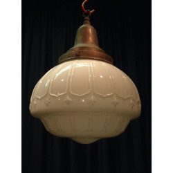Antique Glass and brass lamp