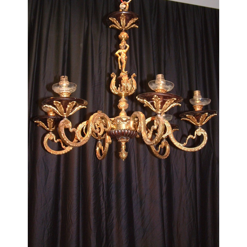 Brass and bronze candelabra