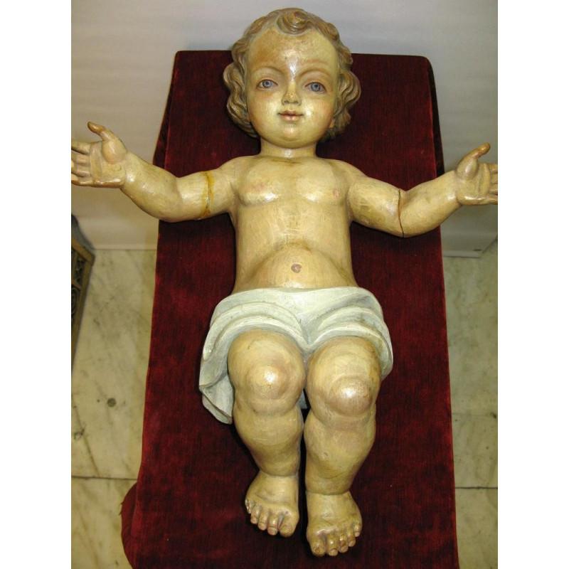 Life size baby Jesus crib figure