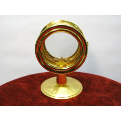 Free standing gilded pyx and lunette