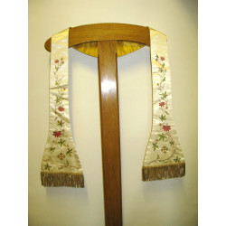 Flowered preaching stole