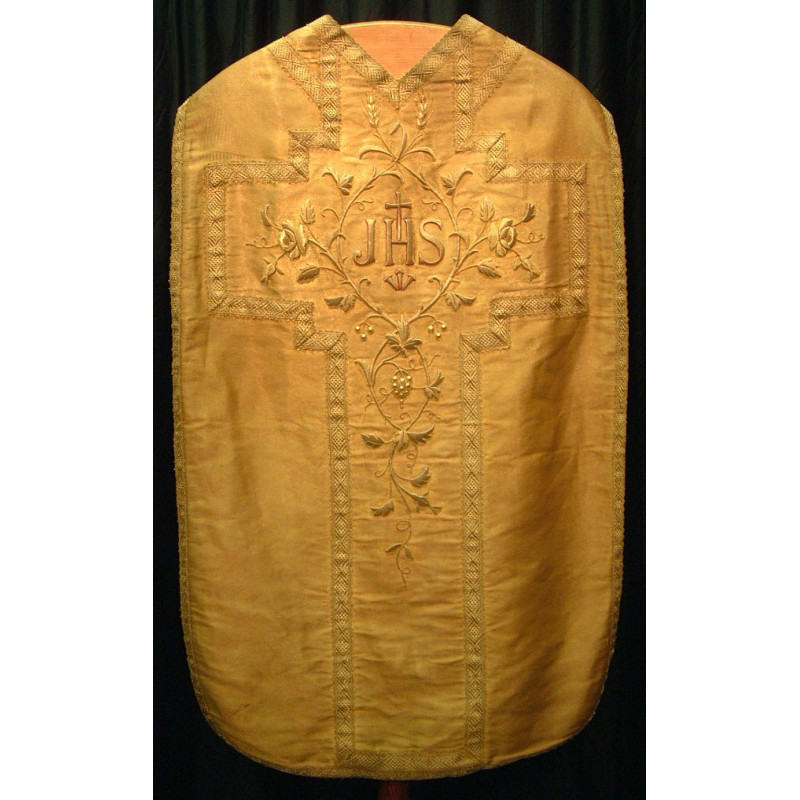 Gold cloth Vestment flowers and grapes and wheat