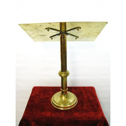 Tall brass table lecturn