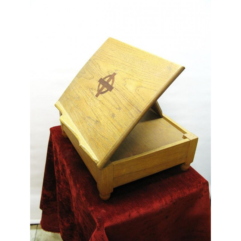 wooden table lectern
