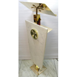 Brass and marble lectern