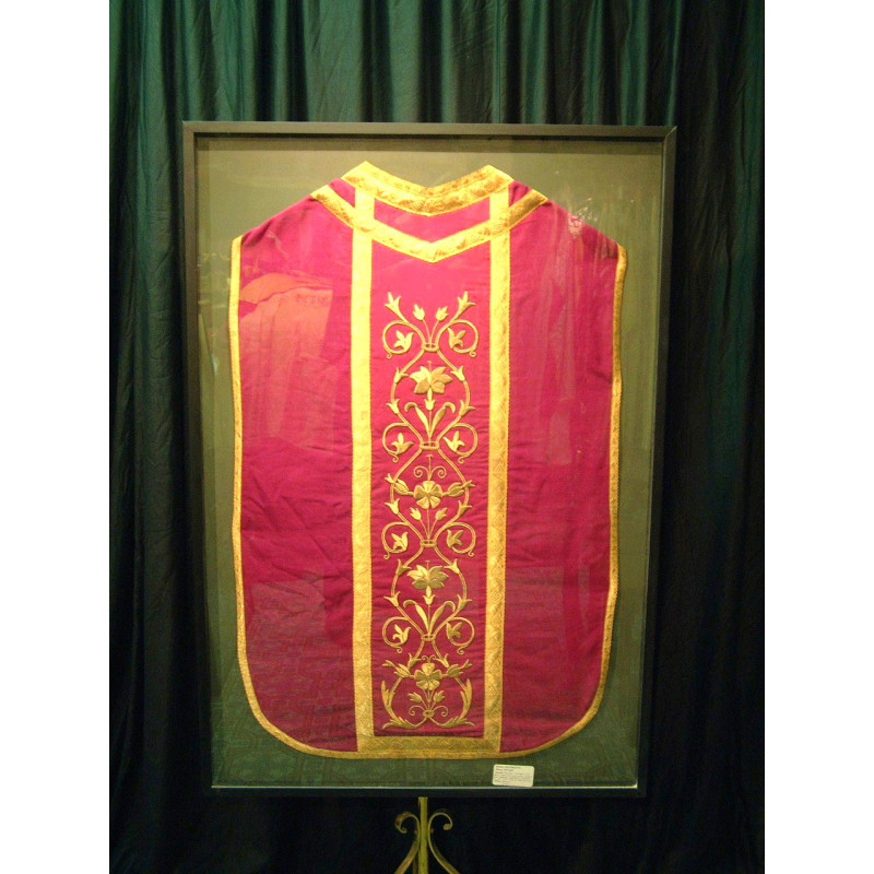 Glass Framed Antique Vestments