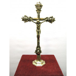 Ornate table crucifix