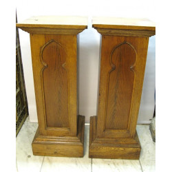 Pair of pedestals Gothic