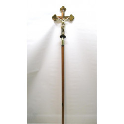 Brass and wood processional cross
