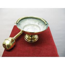Large brass sprinkler and bucket