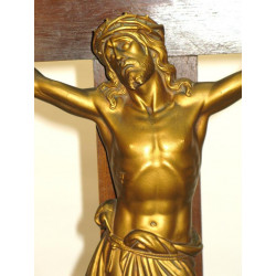 Bronze christ on Gothic cross