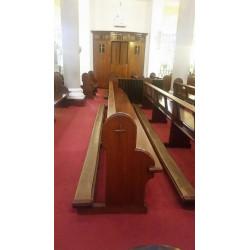 5 Long church pews