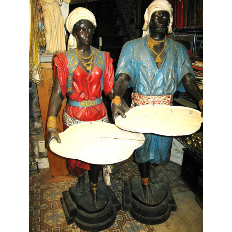 Pair of Moorish servants