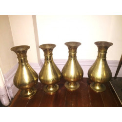 Set four large traditional flower vases
