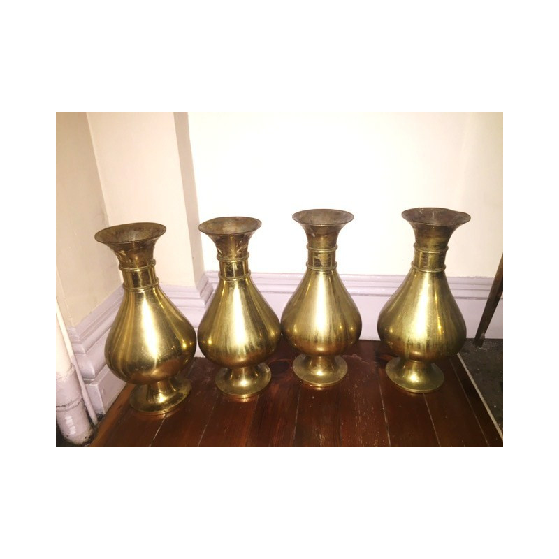 Set four large traditional flower vases