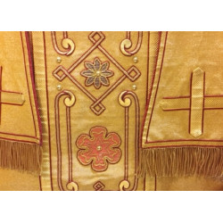Cloth of Gold vestment close up rose