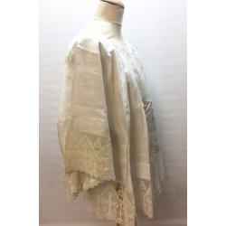 Irish linen surplice with lace