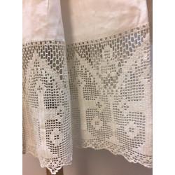 Irish linen surplice with lace