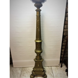 wooden painted paschal candlestick