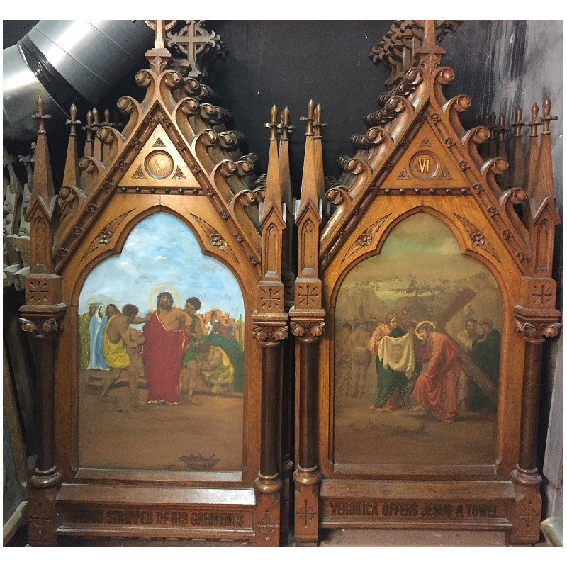 Gothic stations of the cross