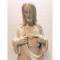 Marble statue of the sacred heart