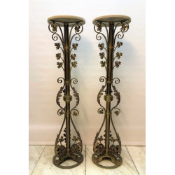 A pair of altar stands