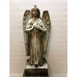 Marble angel with statue