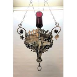 Silver Gothic Sanctuary Lamp