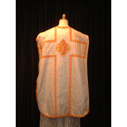 White demask chasuble