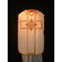 White Chasuble with celtic center piece