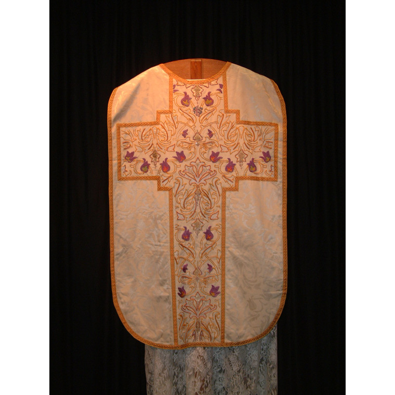 Beautiful white chasuble