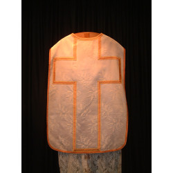 White Chasuble with lily design