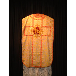 White / Gold chasuble red braiding