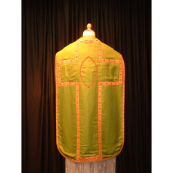 Green chasuble and stole