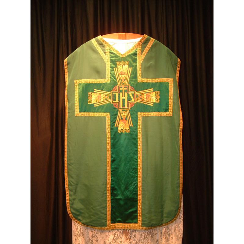 Green chasuble 1960s Design