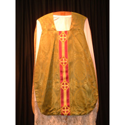 Green demask chasuble