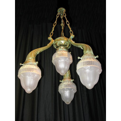 Set of 3 Green ceiling lights