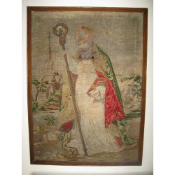 Large tapestry of St Patrick