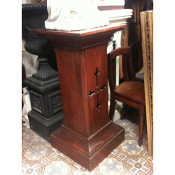 Pedestal with fretwork cross