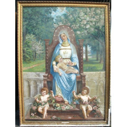 Our lady sitting with Child